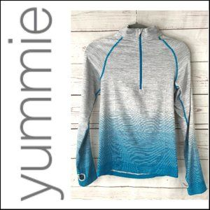 Yummie by Heather Thomson Striped Half Zip